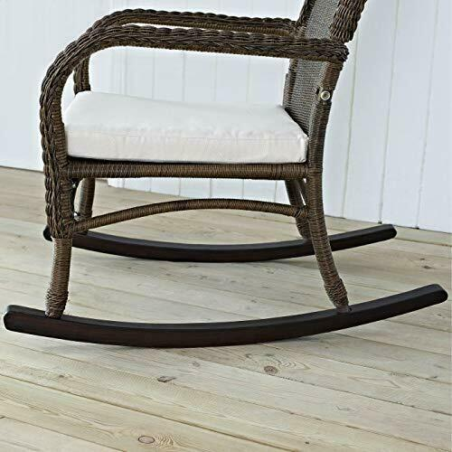 Classic Traditional Country Brown Resin Wicker Patio Rocking Chair Outdoor Porch image 4
