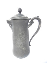 Antique Ornately Carved Silverplate(?) E.G. Webster Coffee Pot, Brooklyn NY - $6.99