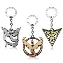Pokemon GO Keychain - 3 Piece Set - Team Valor Team Instinct Team Mystic - $19.99
