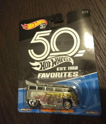 Hot Wheels FAVORITES, VOLKSWAGEN T1 DRAG BUS, Real Riders 50th Anniversary