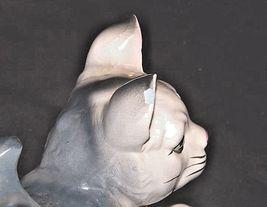 Kitten Figurine  AA18 - 1163 Vintage Grey and White image 3