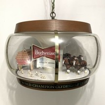 Vintage Budweiser Clydsdale Parade Carousel Rotating Light Sign - $850.25