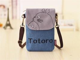 Women Totoro Hello Kitty Baymax Bags Small Cartoon Canvas Denim Purse Mini Bags - $14.41