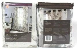 "2 Allen & Roth 1085004 Lyla 52"" X 84"" Linen 94% Polyester Grommet Top Panel - $41.99"