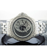 king Master Japan movt quartz Round 100 Diamonds 50 MM stainless steel W... - $247.49
