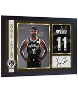 Kyrie Irving Brooklyn Nets NBA signed autographed poster photo print FRAMED - $21.57