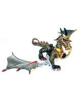 Mega Bloks Dragons Krystal Wars Dragon Man-O-War Black & Gold Dragon wit... - $10.69