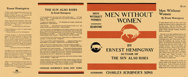 Hemingway MEN WITHOUT WOMEN facsimile dust jacket for first US edition &... - $22.00