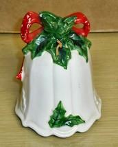 Vintage -LEFTON - 4.25in ceramic bell - $9.89