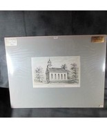 Ca 1861 Print Church at Bloomingdale West End NYC, Katherine Ebert Prove... - $12.20