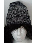 Nadco Space Dye Knit Bun/Ponytail Stretchy Beanie/Skullie Hat/Cap Black ... - $4.73