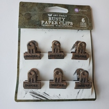 Rusty Paper Clips. Bulldog Clips. Prima. Finnabair