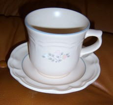 Pfaltzgraff Remembrance Cup and Saucer Set RETIRED Pattern Vintage New - $29.95