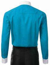 Berlioni Italy Men's Classic White Collar & Cuffs Two Tone Dress Shirt - XL image 3