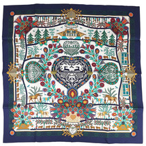 Hermes Carre 90 Scarf Stole decoupages Silk 100% Animal Woman Auth New Unused - $353.12