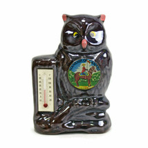 VTG OWL Thermometer Bank | Canada Souvenir | RCMP | Red Clay | Japan | 1... - $8.86