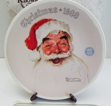 Norman Rockwell Santa Claus Plate Christmas 1988 Edwin Knowles With COA - $16.61