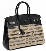 Hermes Birkin Bag 35 De Camp Dechainee Toile Black Veau Swift Palladium ... - $26,235.00