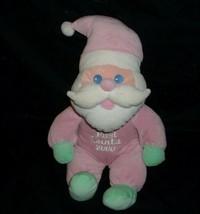 MY FIRST 1ST SANTA CHRISTMAS RATTLE MAIN JOY 2000 STUFFED ANIMAL PLUSH T... - $41.23