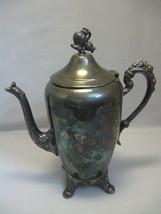 Eton Silver Co Tea Pot Silver Plate Flower Foot... - $29.95