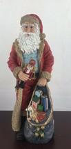 "Vintage Christmas Jaimy Santa Claus With Nutcracker And Toy Bag /12"" Tall - $11.30"