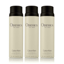 Pack of 3 Calvin Klein Obsession All Over Body Spray for Men 5.4oz 152g each - $49.49