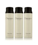 Pack of 3 Calvin Klein Obsession All Over Body Spray for Men 5.4oz 152g ... - $49.49
