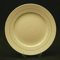"Tuxedo Platinum by Gibson Designs 10-1/2"" Dinner Plate White Platinum Trim Verge - $19.79"