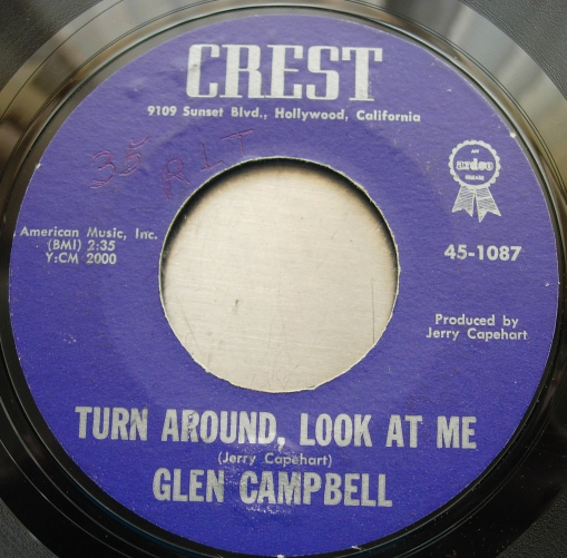 GLEN CAMPBELL - Brenda / Turn Around, Look At Me - Crest Records 45-1087