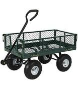 Heavy Duty Steel Garden Wagon, Lawn Cart 400 lb Capacity, Long Handle, 1... - $254.87