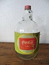 Original 1953 Coca-Cola una Galón Duraglas Botella con Tapa - $43.23