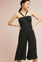 New Anthropologie Proust Cropped Jumpsuit by Maeve $138 BLACK  Size 2 - $55.44