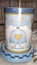 Warm Hugs Snowman Candle Luminary by Teresa Kogut - $11.85