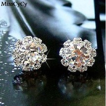 MissCyCy 2016 Brand New FASHION Spherical Crystal Flower Stud Earrings F... - $20.00