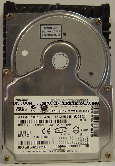 "36.7GB 10K RPM SCSI 68Pin 3.5"" Drive Quantum KU036L4 KU36L Tested Free USA Ship"