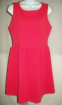 Forever 21 Womens Dress Size Jr. M Pink Textured Knit Sleeveless Casual  - $29.47