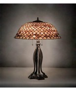 Tiffany Style Fishscales Burgundy Table Lamp - $1,419.66