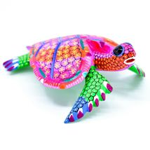 "Handmade Alebrijes Oaxacan Copal Wood Carving Painted Sea Turtle 6.5"" Figurine image 4"