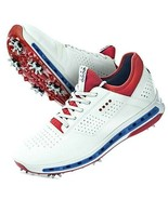 ECCO GOLF COOL GORE-TEX SHOES WHITE/BLUE/RED SIZE 13-13.5 EU 47 NEW WITH... - $109.60