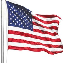 Anley Heavy Duty American Us Flag 4X6 Foot Nylon Embroidered Stars And New - $72.23
