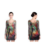DMT Trippy Psychedelic art long sleeve bodycon dress - $24.80+