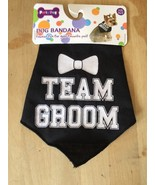 Pet Clothes Apparel Dog Bandanna Size XS/S Team Groom Black And White - $6.08