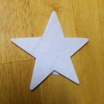 """6 pieces 3.5"""" Unfinished Wooden Stars Cutouts for Wood Crafts (6 pack) - $5.93"""