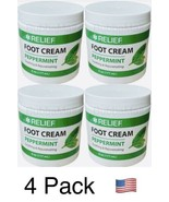 4 X Relief Foot Cream Peppermint 6 Oz Each, Made in USA!!! - $19.75