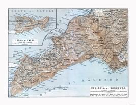 Sorrento Capri Italy - Baedeker 1880 - 23.00 x 29.99 - $36.58+