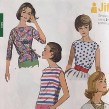 Simplicity Sewing Pattern 1364 Ladies Misses Blouses Belt Size 8-16 New - $14.77