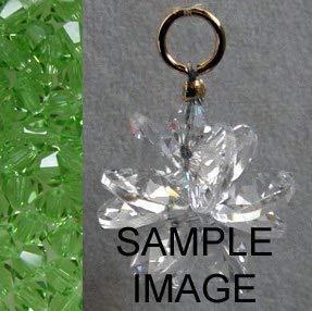 J'Leen Miniature Crystal Suncluster Charm - Clear Peridot Accent