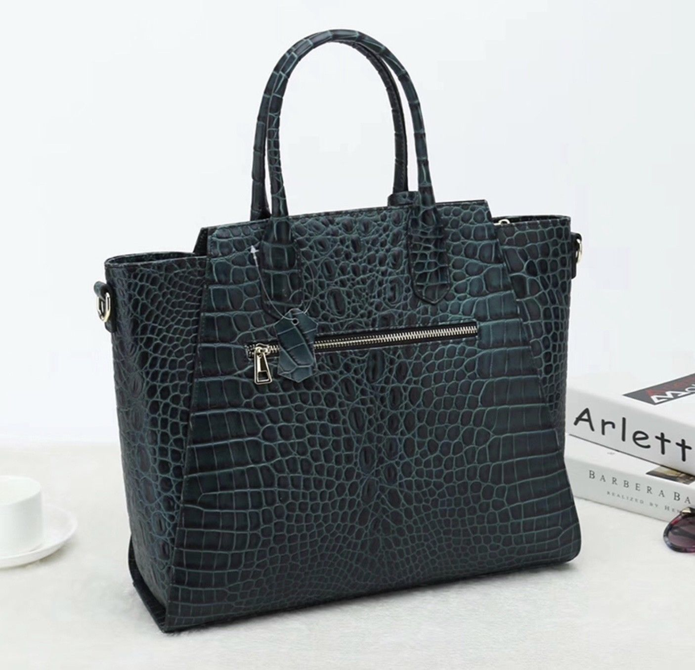New Python Snake Pattern Italian Leather Winged Satchel Handbag Purse 2651S