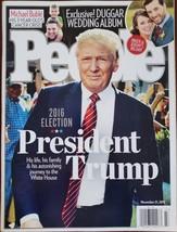 PEOPLE Magazine Nov 21 2016: President Trump Michael Buble Duggar Weddin... - $24.95