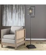 FARMHOUSE INDUSTRIAL METAL GALVANIZED PIPE FLOOR LAMP IRON MESH SHADE LIGHT - $415.80
